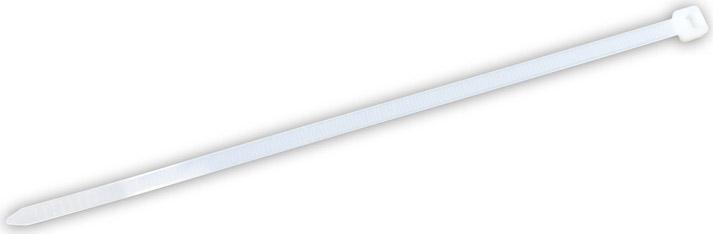 Utilia Fascette plastica in Nylon 100x2,5 mm Confezione 100 pezzi Bianco 14369