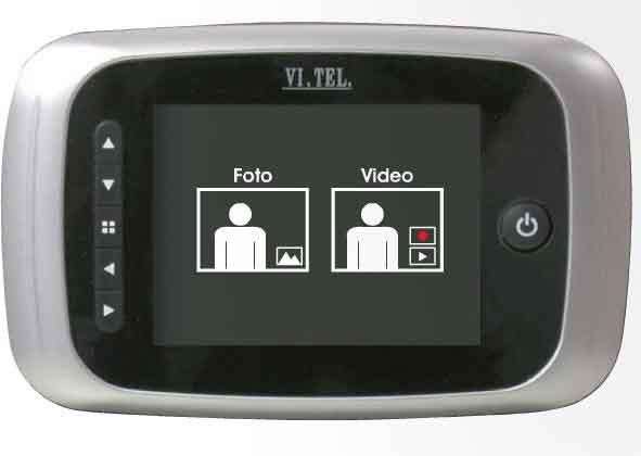 """VI.TEL. Spioncino digitale elettronico porta telecamera video LCD 3,5"""" E037012"""