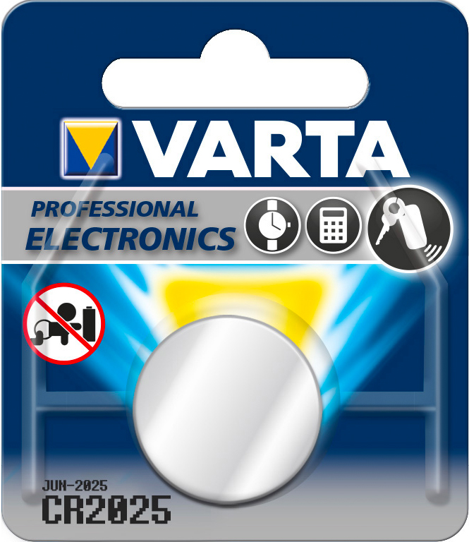 Varta 6025101401 Batteria a Bottone Cr2025 Bl.1Pz Blister  10