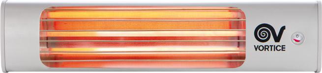 Vortice Stufa elettrica Infrarossi basso consumo Parete 1800W Thermologika 70015