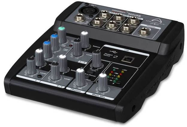 WHARFEDALE 4401160 Mixer audio consolle per dj Jack 3.5mm6.35mm Connect 502 USB
