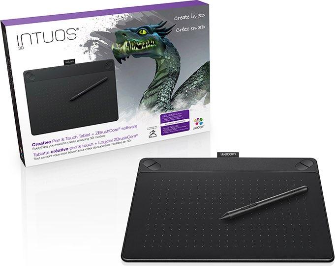 Wacom Tavoletta grafica Disegno 3D + Penna CTH-690TK-S Intuos 3D