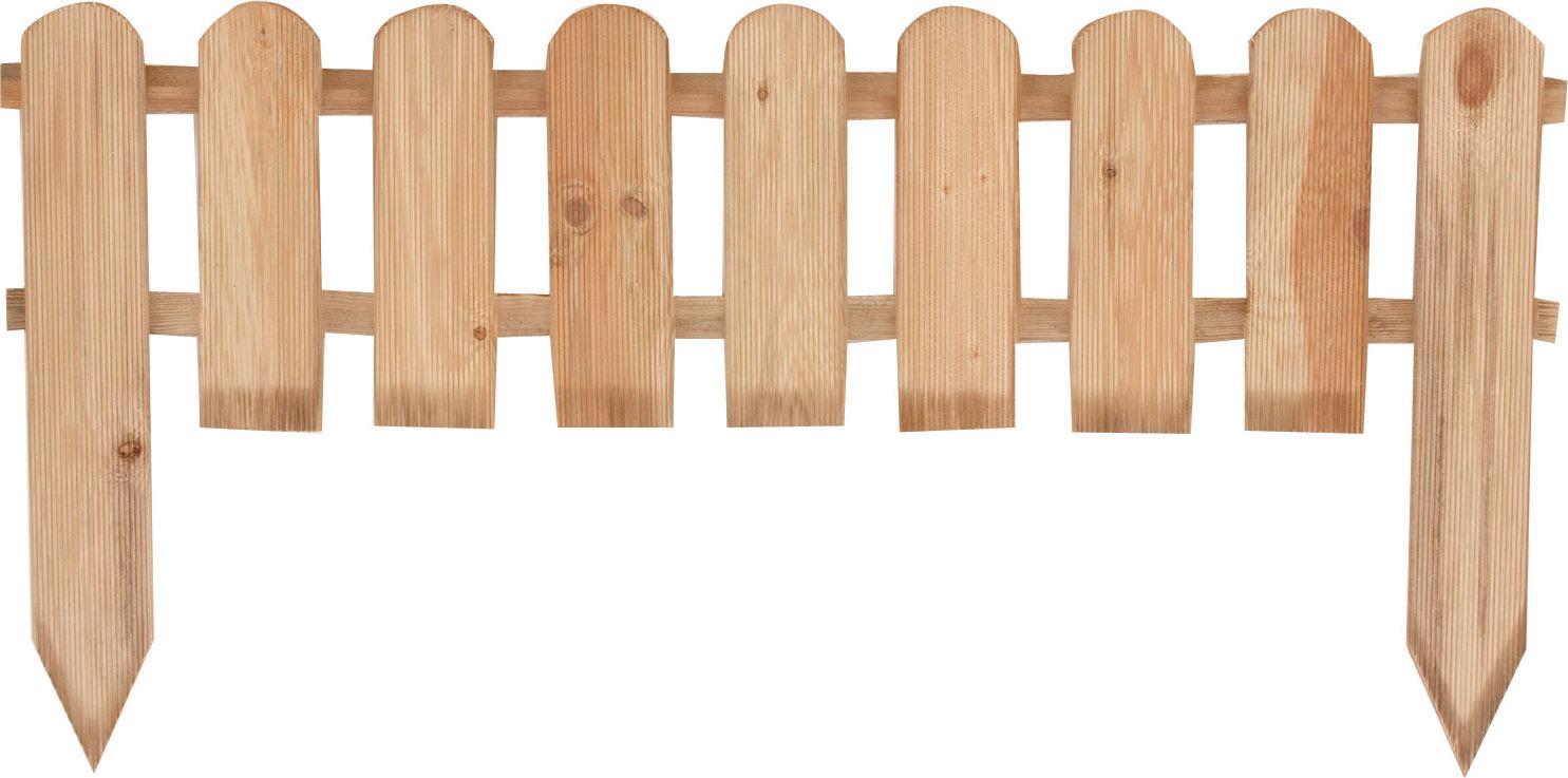 Wellton Recinto Basso per Aiuole in Pino modello Inglese Dimensioni 110 x 28 h cm
