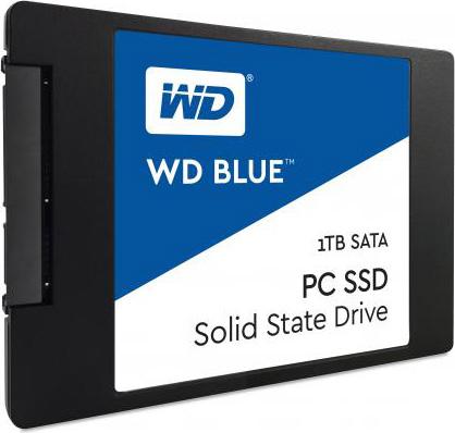 """Western Digital SSD Solid State Disk 25"""" 1 TB Sata 3 6GBs WDS100T1B0A WD Blue"""