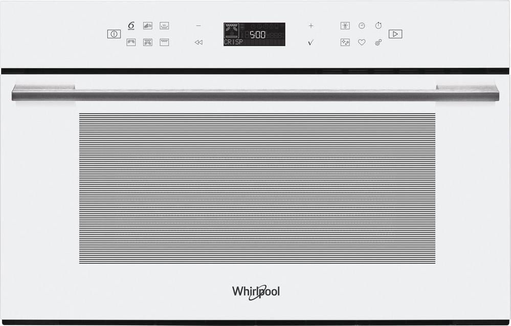 Forno a Microonde da Incasso combinato con Grill Capacità 31 Litri Potenza  1000 Watt Larghezza 60 cm Funzione Crisp Vapore 6° Senso colore Bianco - W7  ...