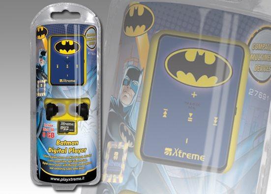 Xtreme Lettore Mp3 8 GB + Cuffie Auricolari Cuffiette + Micro SD 27691 Batman