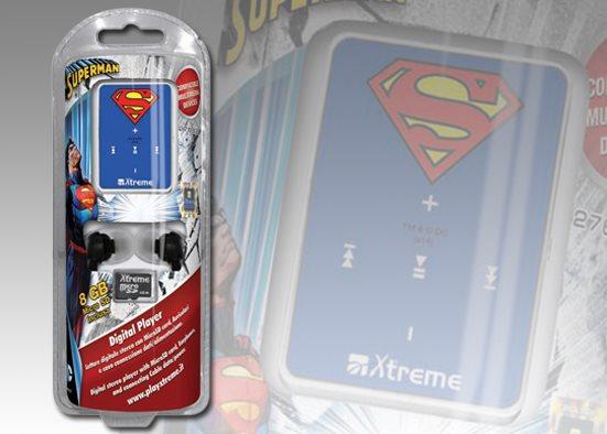 Xtreme Lettore Mp3 8 GB + Cuffie Auricolari Cuffiette + Micro SD 27692 Superman