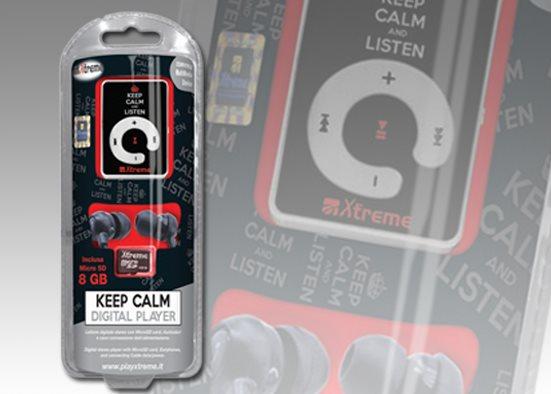 Xtreme Lettore Mp3 8 GB USB 3.5 mm + Cuffie Auricolari con Filo 27693 Keep Calm