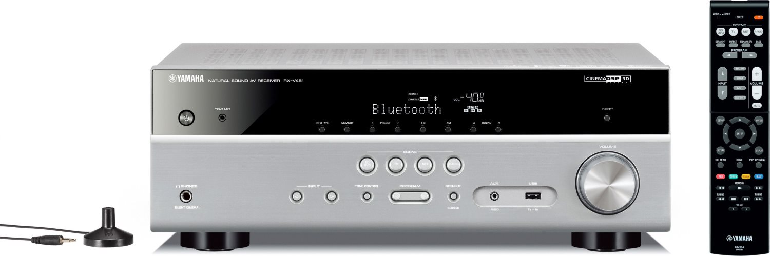 YAMAHA Amplificatore Bluetooth Wifi per Surrond 5.1 130 Watt USB HDMI RXV481TI