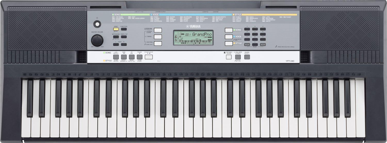 YAMAHA Tastiera Keyboard Pianola 61 Tasti USB display LCD con effetti YPT240