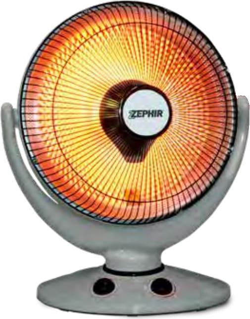Zephir Stufa elettrica al Carbonio Potenza 900 Watt Oscillante con