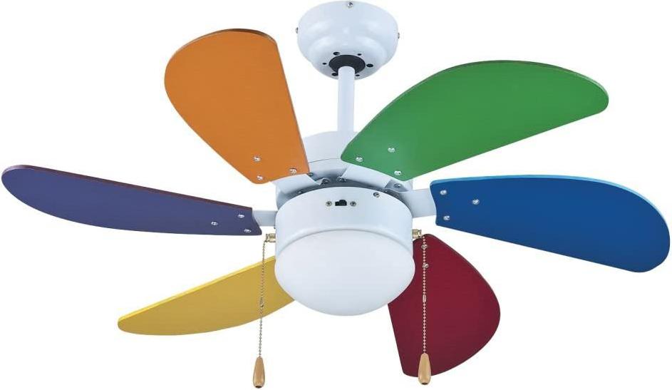 Ventilatore da soffitto zephir zfs690c offerte e prezzi for Lampadario a pale brico