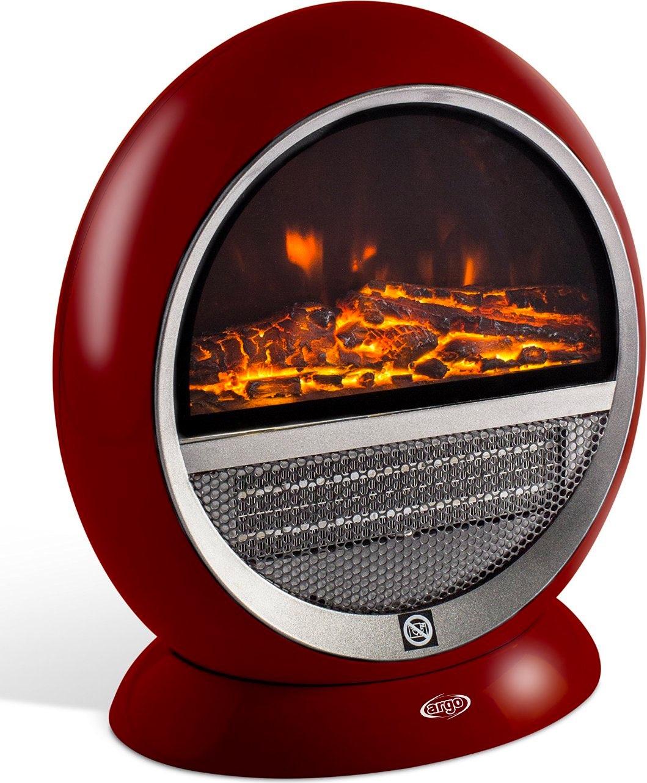 Caminetto elettrico argo 191070165 pepita red for Camino elettrico effetto fiamma