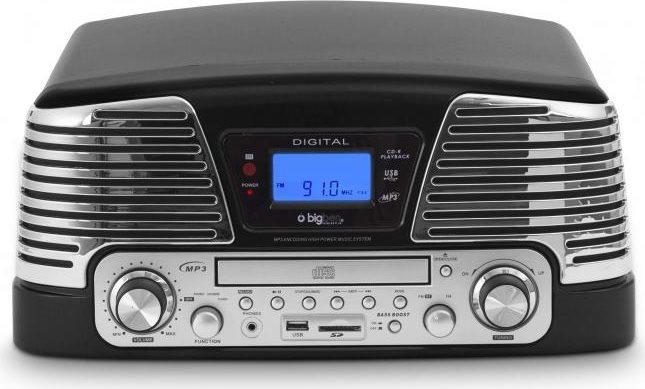 Bigben Interactive Giradischi 33-45-78 giri Lettore CD Mp3 Radio AMFM USB TD79N