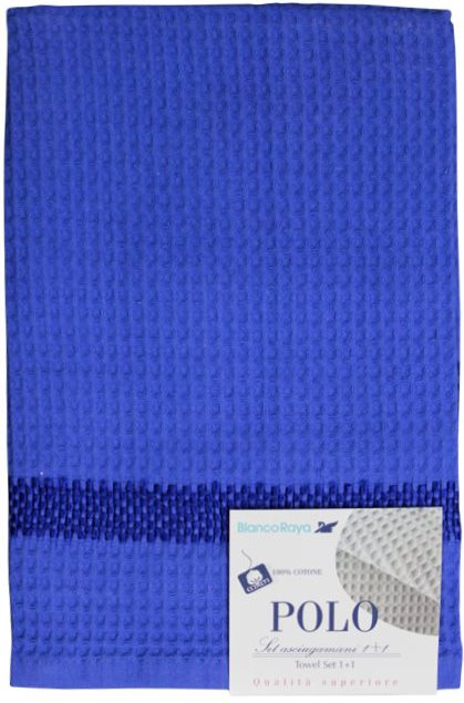 Blanco Raya Set Asciugamani Spugna Nido dApe 40x6060x108 cm Blu - Polo