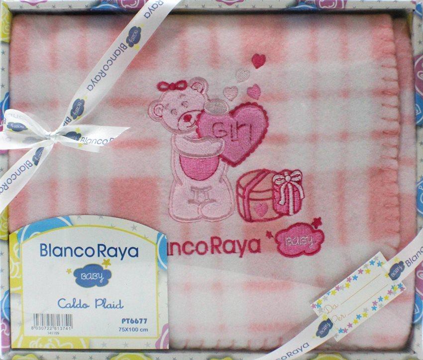 Blanco Raya Copertina Neonato Culla Carrozzina Plaid Invernale 74x100 cm Rosa PT6677