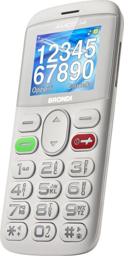 "Brondi Amico Gentile Telefono cellulare DUAL SIM 1.77"" GSM Tasti Grandi ITA"