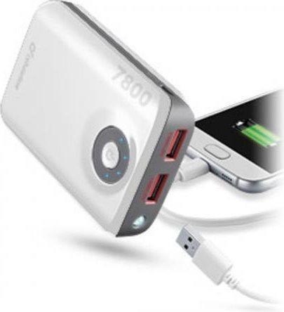 Cellular Line Caricabatterie Esterno Portatile Smartphone 7800mAh FREEPOWER7800W