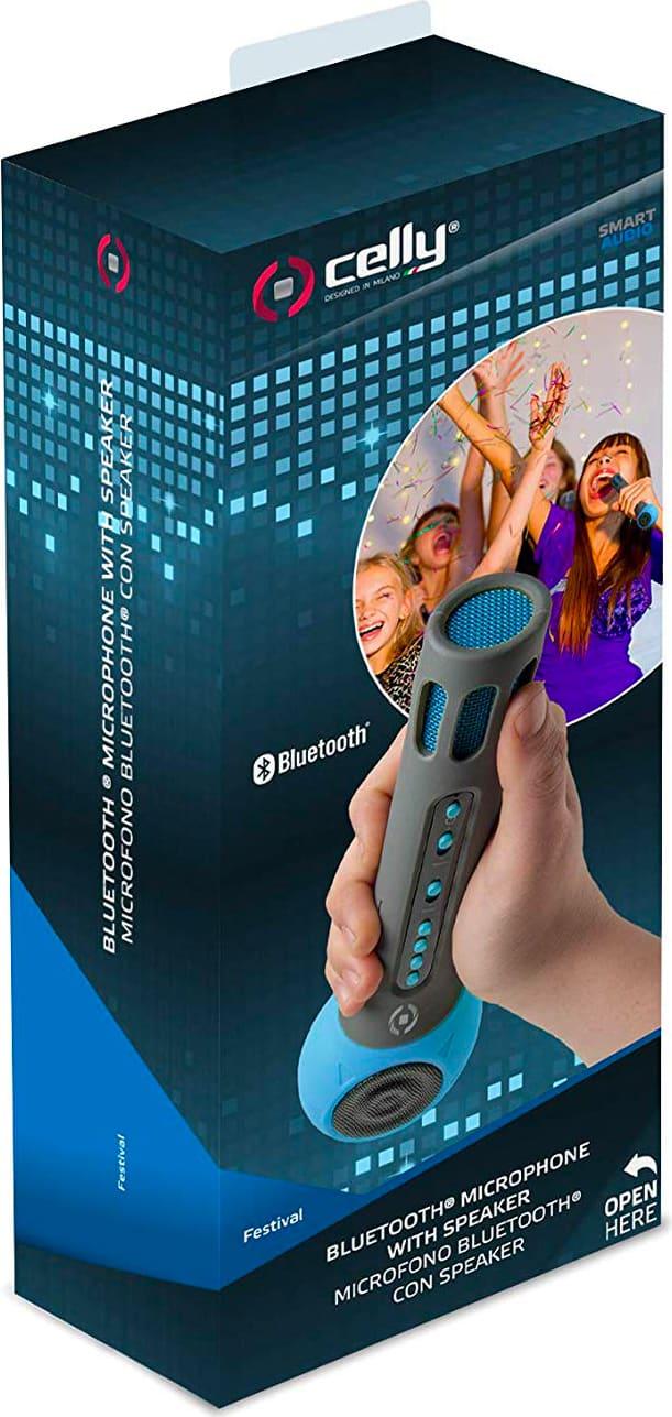 celly festival  celly Speaker Bluetooth con Microfono Integrato per Karaoke lettore ...