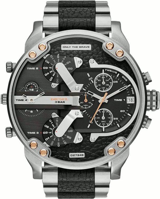 Diesel Orologio Uomo Acciaio Cronografo Analogico al Quarzo e Cinturino DZ7349