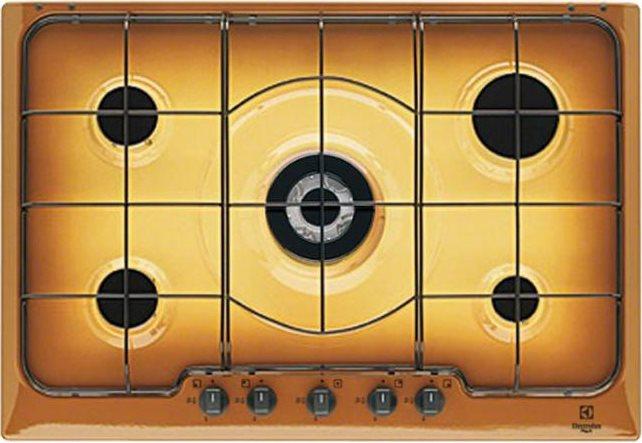 Piano Cottura 5 Fuochi Rex Electrolux Gas 75 cm Tripla Corona Terra ...