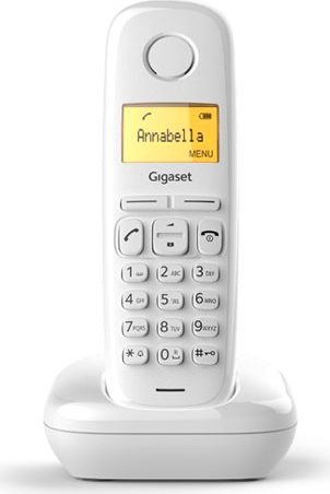 Gigaset A 170 WHITE Telefono Cordless DECT ECO GAP 50 Voci Rubrica Id  Chiamante Bianco A170 be05447d4d7