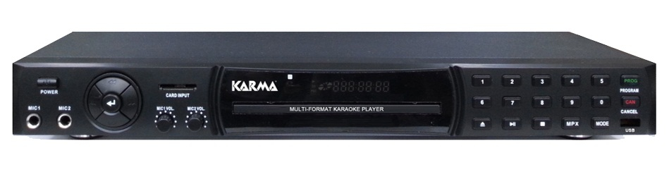 KARMA Lettore DVD Funzione Karaoke Mp3 CD USB col Nero UMP 700