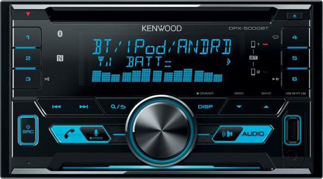 Kenwood Autoradio 2 din Sintolettore CD Mp3 USB Radio FM 200W Bluetooth DPX500BT