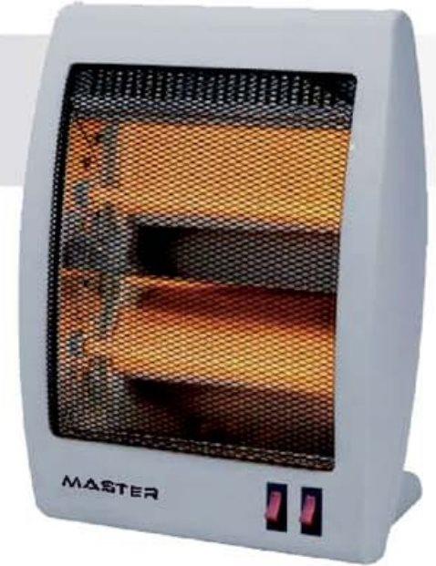 MASTER Stufa elettrica al Quarzo Potenza 800 Watt - QZ800
