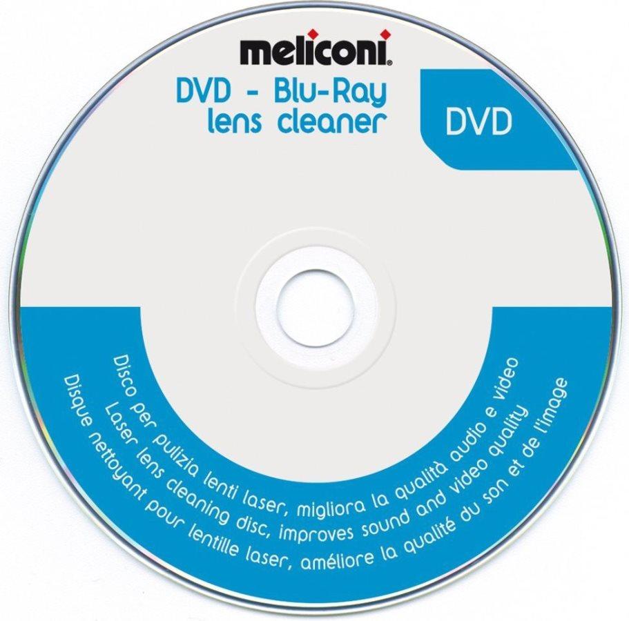 Meliconi Disco per pulizia lenti laser lettori DVD - DVD Cleaner