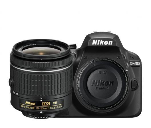 Nikon Fotocamera digitale reflex 24.2Mpx Bluetooth + Obiettivo 18:55VR D3400