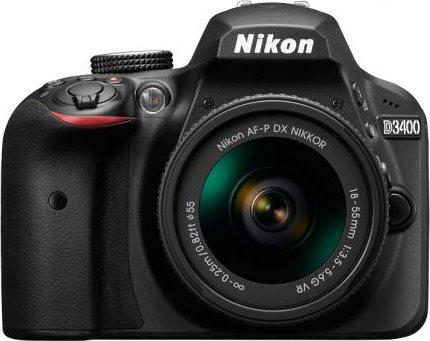 Nikon Fotocamera Digitale Reflex 24 Mpx CMOS Bluetooth + AF-S DX 18-105 VR D3400