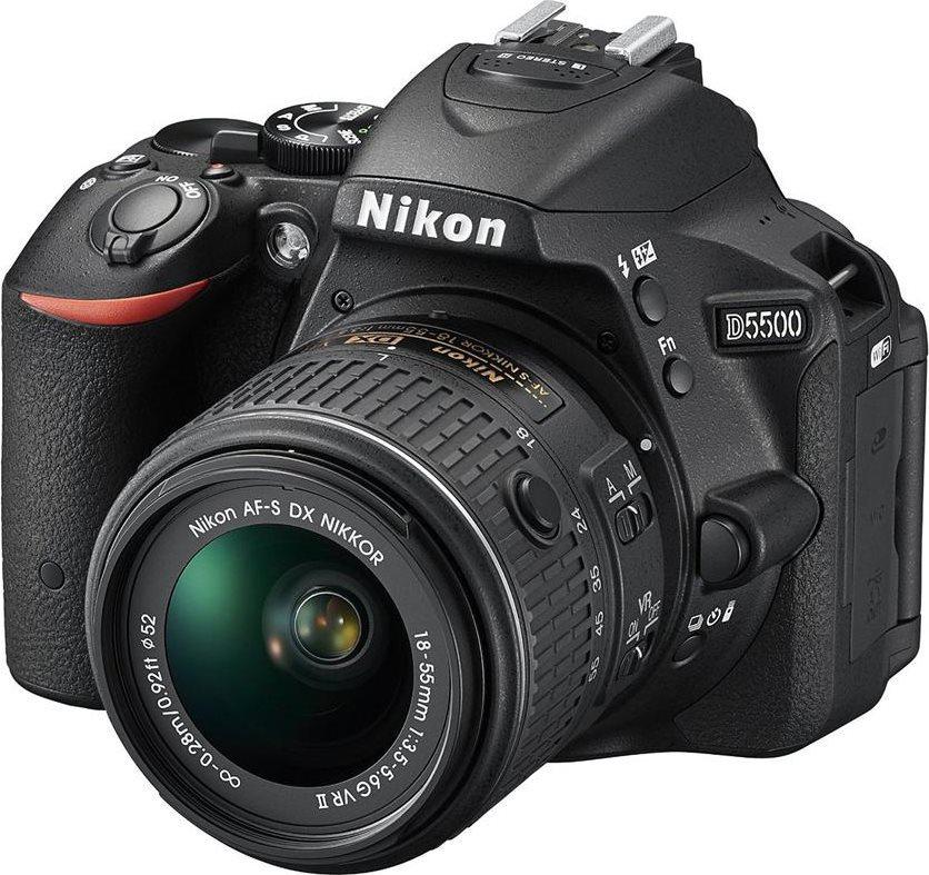Nikon Fotocamera Digitale Reflex 24.2 Mpx + Obbiettivo 18:55+SD 8GB ND5547 D5500