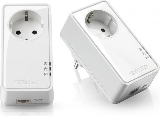 Sitecom Powerline Wifi Ethernet Kit socket Homeplug Internet 500 Mbps LN 553