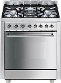 Cucina A Gas Smeg C7Gmxi8-2 Forno Elettrico Ventilato 70X60 ...