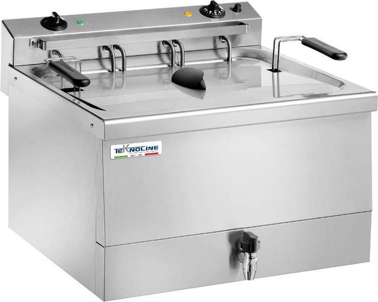 TEKNOLINE Friggitrice Professionale Elettrica 18 Lt 9000 W Termostato TEKFR18