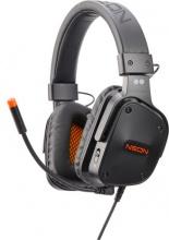 2Dots Neon Cuffie Gaming con Microfono colore Arancione