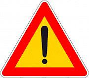 3G 801938841 Segnale Stradale mobile di Pericolo per Cantiere dimensione 90x78 h