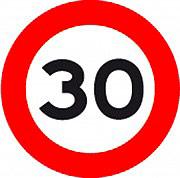 3G 805635041 Segnale Stradale mobile per Cantiere Limite 30 Kmh ø 60 cm