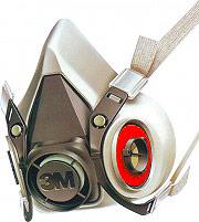 3M 87772 Maschera con Filtro Semimaschera Facciale misura Media  Serie 6200