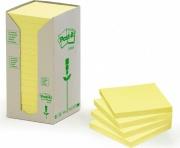 3M 91315 Post-It Note In Carta Riciclata 16 confezioni Giallo 654-1T