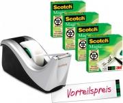Scotch 75114A Dispenser nastro adesivo Nero Argento
