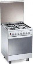 Tecnogas Cucina a Gas 4 Fuochi Forno Elettrico Grill 60x60 cm Inox - TL667XS