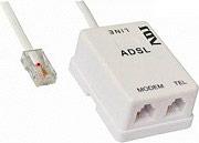 ADJ 100-00020 Filtro Adsl Doppia Uscita Telefono + Modem