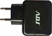 ADJ 110-00094 Caricabatterie per Tablet Smartphone 2 Ingressi USB Nero