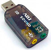 ADJ Scheda Audio PC USB Audio 5.1 Microfono Windows  Mac  Linux 130-00003