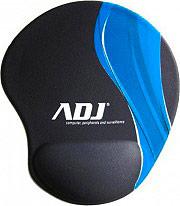 ADJ 130-00006 Mouse Pad con poggia polso in silicone 205x230 mm Nero