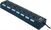 ADJ 143-00001 HUB USB 2.0 7 Porte con Singoli Interruttori colore Nero