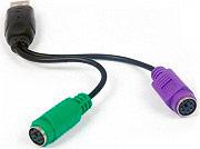 ADJ 320-00030 Adattatore Mouse e Tastiera da USB Maschio a Doppia Porta PS2