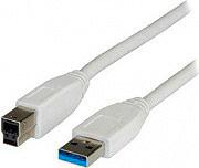 ADJ ADJKOF21998871 Cavo USB 3.0 A  B 3.0 Metri col Bianco